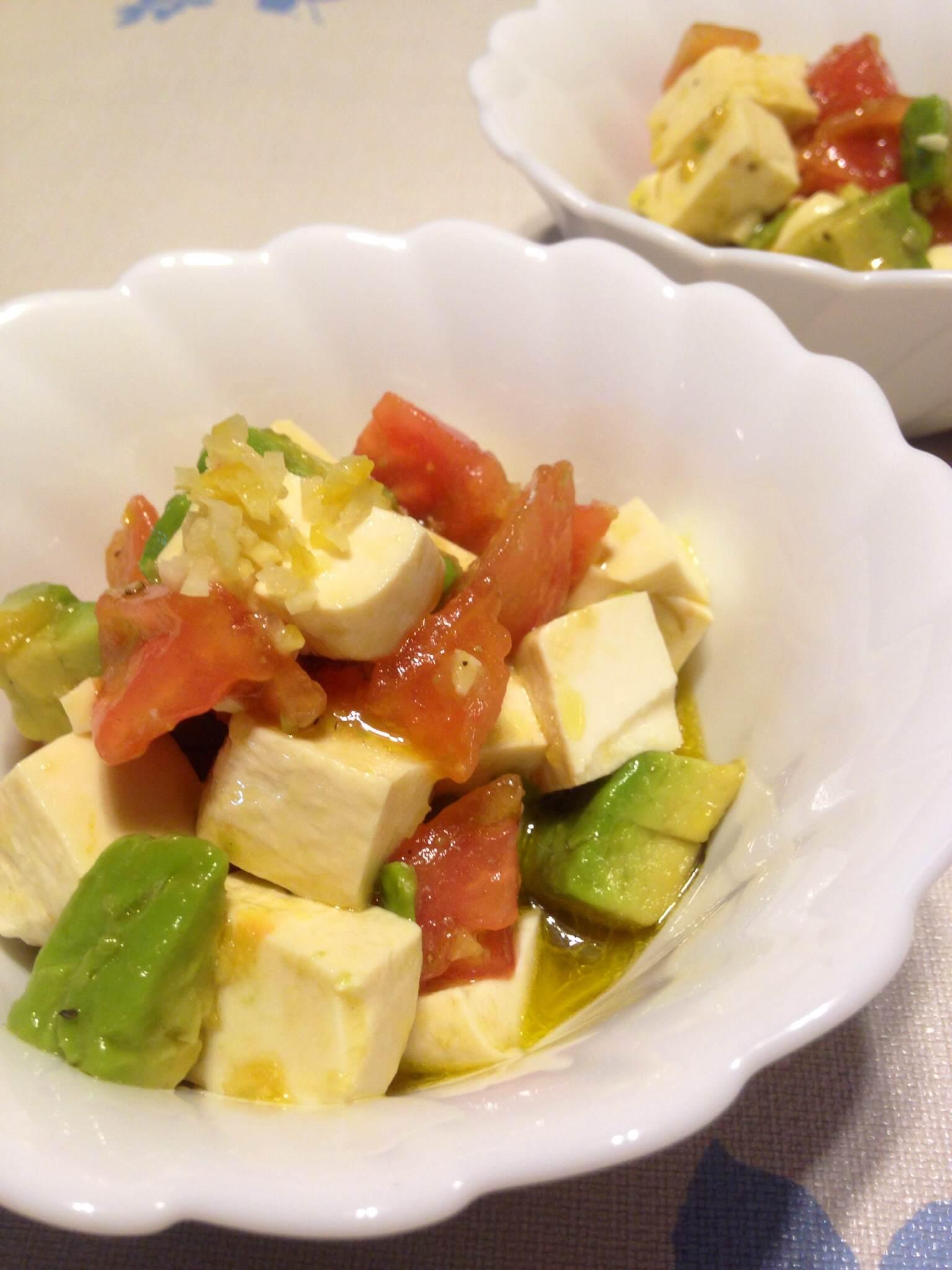 塩レモンアボカド豆腐カプレーゼ
